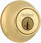 Kwikset 660 3 SMT RCAL RCS Polished Brass Single-Cylinder Deadbolt with SmartKey