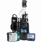 Glentronics BW4000 Battery-Backup Sump Pump System, .5-HP Motor
