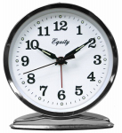 La Crosse Technology 24014 Wind-Up Alarm Clock, Loud Bell, Chrome