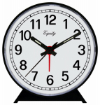 Geneva/Advance Clock 2054AT Keywinds Alarm Clock, Keywind, Black