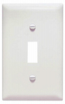 Pass & Seymour SP1WUCC100 Urea Wall Plate, Single Toggle, White