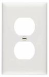 Pass & Seymour SP8WUCC100 Urea Wall Plate, Duplex Outlet, White