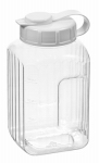 Arrow Plastic Mfg 145 Refrigerator Beverage Bottle, Clear PBA-Free Plastic, 1-1/4-Pt.