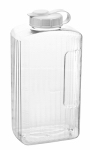 Arrow Plastic Mfg 147 Refrigerator Beverage Bottle, Clear PBA-Free Plastic, 2-1/4-Pt.