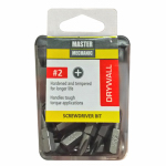 Disston 129288 Master Mechanic 25-Pack 1-Inch Drywall Screwdriver Bit