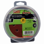 Ali Industries 4344 50-Pack 5-Inch 80-Grit Hook & Loop Sanding Disc