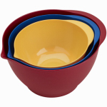 Bradshaw International 11620 Plastic Mixing Bowl Set, 3-Piece