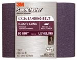 3M 9611 Sandblaster 4 x 24-Inch 80-Grit Sanding Belt