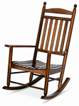 Jack Post KN-22N Knollwood Collection Porch Rocker, Hardwood Frame