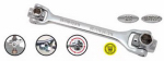 Apex Tool Group-Asia 130158 8-in-1 Swivel-Head Wrench, SAE