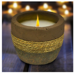 Lamplight Farms 1412113 Citronella Candle, Ceramic, Terra Cotta Earth Tone, 10-oz.