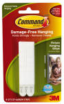 3M 17207 Narrow Picture Hanging Strips White