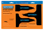 Sm Products 00154 3-Piece Spyder Scraper Set