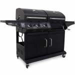 Char-Broil 463724514-DI Combination Charcoal/Gas Grill +  Side Burner, 36,000 BTU