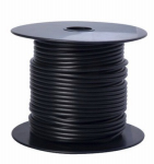 Coleman Cable 55667123 Primary Wire, Black PVC, 14-Ga. Stranded Copper, 100', Sold In Store by the Foot