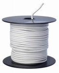 Coleman Cable 55669023 Primary Wire, White PVC, 14-Ga. Stranded Copper, 100', Sold In Store by the Foot