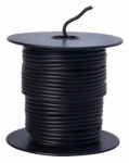 Coleman Cable 55666623 Primary Wire, Black PVC, 16-Ga. Stranded Copper, 100', Sold In Store by the Foot