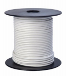 Coleman Cable 55667923 Primary Wire, White PVC, 16-Ga. Stranded Copper, 100', Sold In Store by the Foot