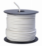 Coleman Cable 55671423 Primary Wire, White PVC, 12-Ga. Stranded Copper, 100', Sold In Store by the Foot