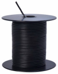 Coleman Cable 55667323 Primary Wire, Black PVC, 18-Ga. Stranded Copper, 100', Sold In Store by the Foot