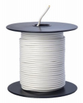 Coleman Cable 55667223 Primary Wire, White PVC, 18-Ga. Stranded Copper, 100', Sold In Store by the Foot