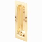 Prime Line Products 162457 Brass-Plated Steel Pocket Door Pull Handle