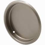Prime Line Products 163920 2-Pack 2-1/8-Inch Satin Nickel Closet Door Finger Pull