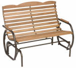 Jack Post CG-44Z Country Garden Patio Collection Hi-Back Glider
