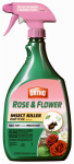 Scotts Ortho Roundup 0345020 Rose & Flower Insect Killer, RTU, 24-oz.