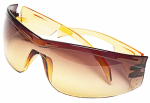 Safety Works 10105402 Yellow Jacket Amber Lens Safety Glasses