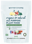 Scotts Miracle Gro 10101-10001 Organic & Natural Plant Food, All-Purpose, 3-4-2, 4-Lbs.