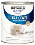 Rust-Oleum 1993-502 Semi-Gloss Premium Latex Paint, White, 1-Qt.