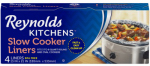 Reynolds Consumer Products 1001090000504 Slow Cooker Liner, Round or Oval, 4-Ct.