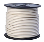 Coleman Cable 55671923 Primary Wire, White PVC, 10-Ga. Stranded Copper, 100', Sold In Store by the Foot