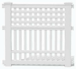 Suncast GVF3232 Garden Fencing, White Resin, 35-3/4-In. High x 32-3/8-In. Wide, Must Purchase in Quantities of 8