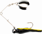 Big Rock Sports BSVP1/8-BYS Beetle Spinner, Black Nickel/Yellow Stripe, 1/8-oz.