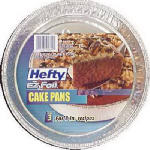 Ez Foil/Reynolds 00Z10819 EZ Foil Cake Pan, 9-In. Round, 3-Pk.