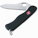 Victorinox-Swiss Army 54885 One Hand Sentinel Lockblade Clip Knife, Non Serrated