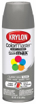 Krylon Diversified Brands K05355102 Colormaster Spray Paint, Indoor/Outdoor Use, Gloss Classic Gray, 12-oz.