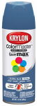 Krylon Diversified Brands K05354602 Colormaster Spray Paint, Indoor/Outdoor Use, Gloss Global Blue, 12-oz.