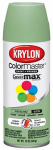 Krylon Diversified Brands K05356302 Colormaster Spray Paint, Indoor/Outdoor Use, Satin Pistachio, 12-oz.