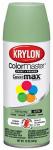 Krylon Diversified Brands K05356302 Colormaster Spray Paint, Indoor/Outdoor Use, Satin Pistachio, 12-oz.