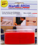 Watman HS11640RD Handi-Shim Construction Shim, Red, 1/16-In., 40-Ct.