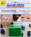 Watman HS13240GR Handi-Shim Construction Shim, Green, 1/32-In., 40-Ct.