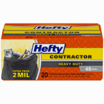Reynolds Consumer Products E2-4524 Contractor Trash Bags, Heavy Duty, Gray, 45-Gal., 22-Ct.