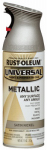 Rust-Oleum 249130 Universal Paint & Primer Spray, Satin Nickel Metallic, 12-oz.