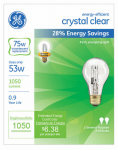 G E Lighting 78797 2-Pack 53-Watt Clear Halogen Light Bulbs