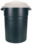 Rubbermaid 2894-87 EGRN Roughneck 32-Gallon Plastic Trash Can With Lid