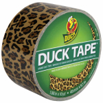 Shurtech Brands 1379347 Leopard Print Duct Tape, 1.88-Inch x 10 Yds.