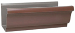 Amerimax Home Products 1800719120 K-Style Gutter, Brown Galvanized Steel, 4-In. x 10-Ft. Must Be Purchased In Quant. of 10